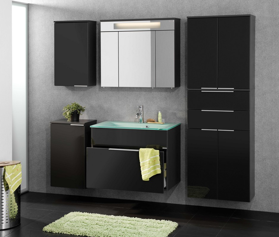 fackelmann badm bel kara anthrazit set 6 tlg waschbeckenauswahl. Black Bedroom Furniture Sets. Home Design Ideas