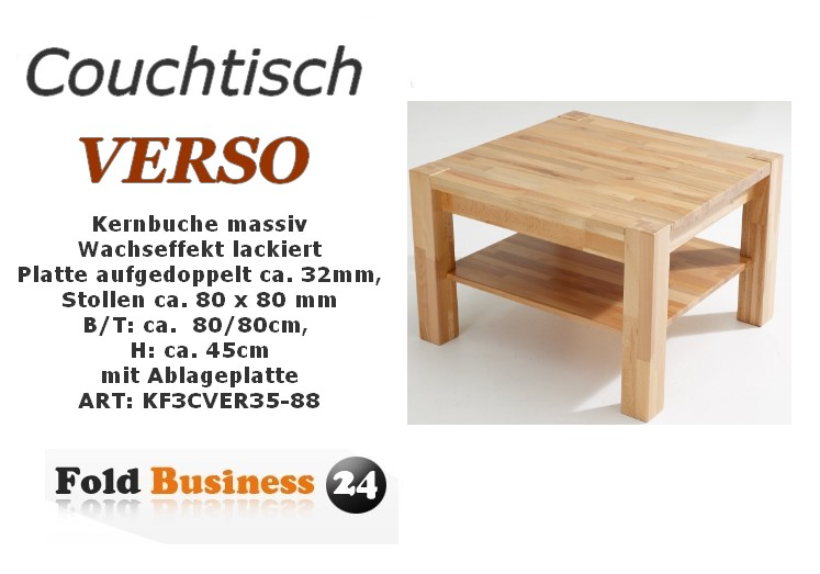 couchtisch kernbuche massiv wachseffekt lackiert 80 80 cm 199 00. Black Bedroom Furniture Sets. Home Design Ideas