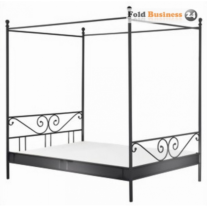 himmelbett rom metall schwarz 249 00 badm bel und wohneinric. Black Bedroom Furniture Sets. Home Design Ideas