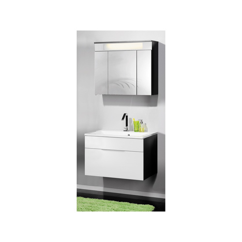 fackelmann spiegelschrank kara anthrazit wei 3 t ren 80 cm 364 65. Black Bedroom Furniture Sets. Home Design Ideas