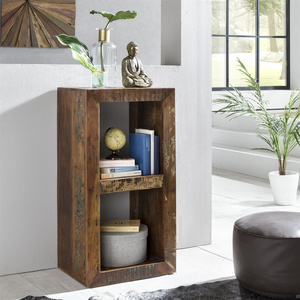 Standregal Bücherregal Mango Massiv-Holz Design Regal 2...