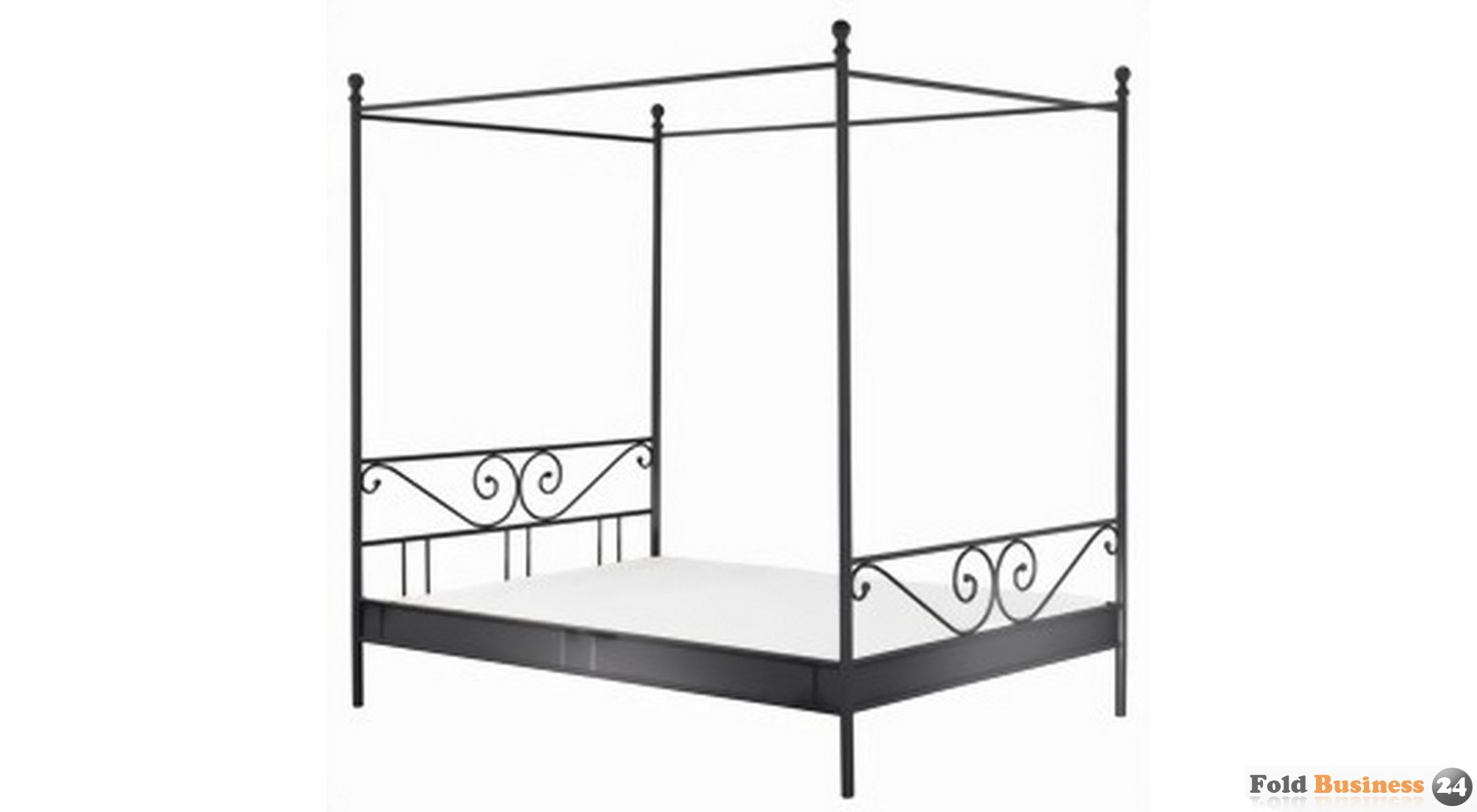 himmelbett rom metall schwarz 249 00. Black Bedroom Furniture Sets. Home Design Ideas